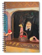 Snow White With Apple Spiral Notebook