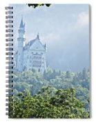 Snow White's Palace In Morning Mist Spiral Notebook