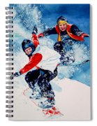 Snowboard Psyched Spiral Notebook