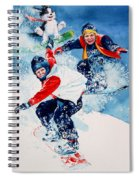 Snowboard Super Heroes Spiral Notebook