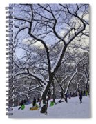 Snowboarders In Central Park Spiral Notebook