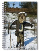 Snowcapped Scarecrow Spiral Notebook