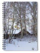 Snowed Cabin Spiral Notebook