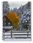 Snowed In At The Ranch Spiral Notebook