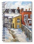 Snowed In Yards By Prankearts Spiral Notebook