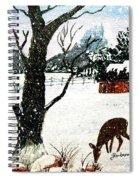 Snowfall And Visiting Doe Spiral Notebook