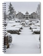 Snowfall At Longview Mansion Spiral Notebook