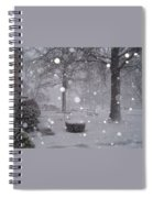 Snowfall On Ayers Spiral Notebook