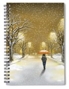 Snowfall Spiral Notebook