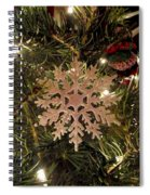 Snowflake Ornament Spiral Notebook