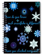 Snowflakes 2 Spiral Notebook