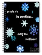 Snowflakes 4 Spiral Notebook