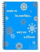 Snowflakes 5 Spiral Notebook