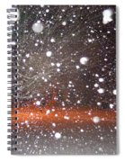 Snowflakes And Orbs Spiral Notebook
