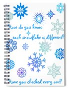 Snowflakes Spiral Notebook