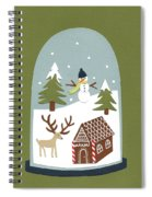 Snowglobe Spiral Notebook