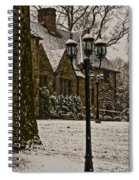 Snowing At Stokesay Castle Spiral Notebook