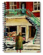 Snowing At The Five And Dime Spiral Notebook