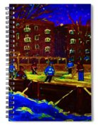 Snowing At The Rink Spiral Notebook