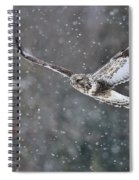 Snowing Flight Spiral Notebook