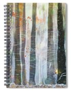 Snowing In The Ice Forest Spiral Notebook