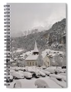 Snowing In The Valley Spiral Notebook