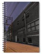 Snowlit Alley Spiral Notebook