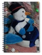 Snowman And His Speeding Plane Spiral Notebook