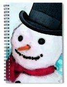 Snowman Christmas Art - Frosty Spiral Notebook