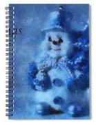 Snowman Christmas Cheer Photo Art 01 Spiral Notebook