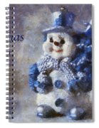 Snowman Christmas Cheer Photo Art 02 Spiral Notebook