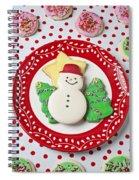 Snowman Cookie Plate Spiral Notebook