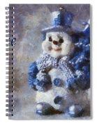 Snowman Peace Photo Art 01 Spiral Notebook