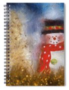 Snowman Photo Art 14 Spiral Notebook