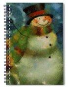 Snowman Photo Art 16 Spiral Notebook