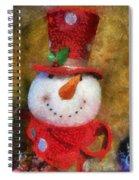 Snowman Photo Art 19 Spiral Notebook