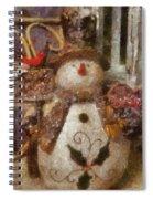 Snowman Photo Art 30 Spiral Notebook