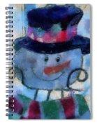 Snowman Photo Art 34 Spiral Notebook