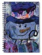 Snowman Photo Art 35 Spiral Notebook