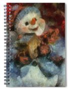 Snowman Photo Art 47 Spiral Notebook