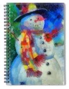 Snowman Photo Art 53 Spiral Notebook