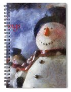 Snowman Season Greetings Photo Art 01 Spiral Notebook