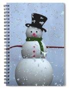 Snowman... Spiral Notebook