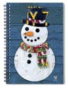 Snowman Winter Fun License Plate Art Spiral Notebook