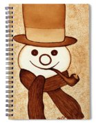 Snowman With Pipe And Topper Original Coffee Painting Spiral Notebook