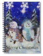 Snowmen Merry Christmas Photo Art Spiral Notebook