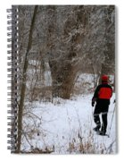 Snowshoeing In The Park Spiral Notebook