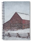Snowstorm At The Ranch 2 Spiral Notebook