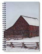 Snowstorm At The Ranch Spiral Notebook
