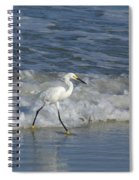 Snowy At The Beach Spiral Notebook